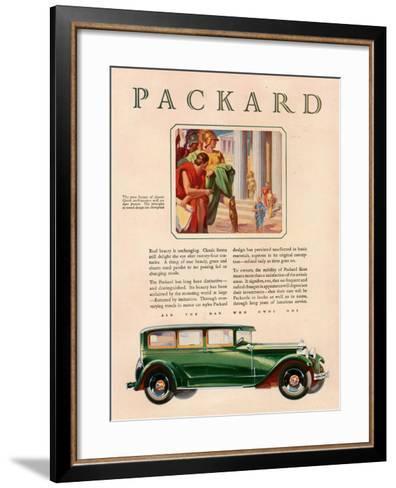 Packard, Magazine Advertisement, USA, 1929--Framed Art Print