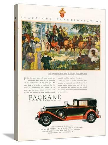 Packard, Magazine Advertisement, USA, 1930--Stretched Canvas Print