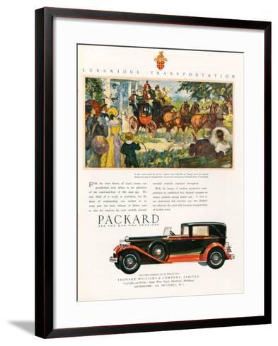 Packard, Magazine Advertisement, USA, 1930--Framed Art Print