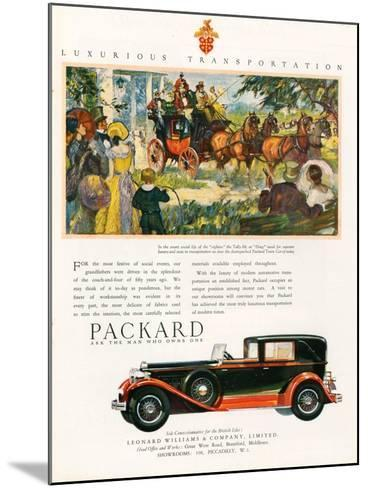 Packard, Magazine Advertisement, USA, 1930--Mounted Giclee Print