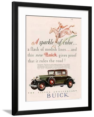 Buick, Magazine Advertisement, USA, 1928--Framed Art Print