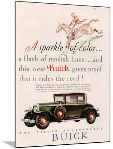 Buick, Magazine Advertisement, USA, 1928--Mounted Giclee Print