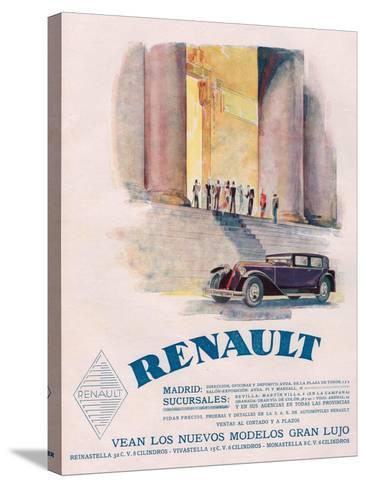 Renault, Magazine Advertisement, USA, 1930--Stretched Canvas Print