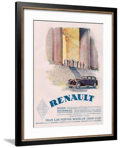 Renault, Magazine Advertisement, USA, 1930--Framed Art Print