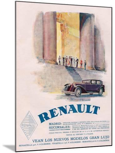 Renault, Magazine Advertisement, USA, 1930--Mounted Giclee Print