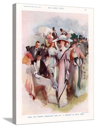 The Lady, Magazine Plate, UK, 1911--Stretched Canvas Print