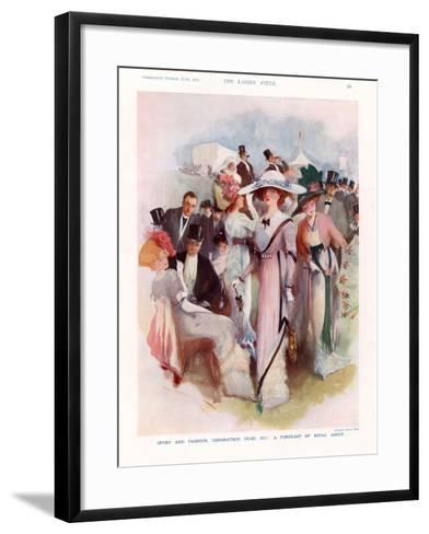 The Lady, Magazine Plate, UK, 1911--Framed Art Print