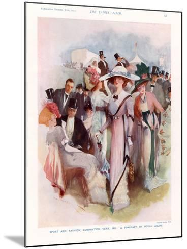 The Lady, Magazine Plate, UK, 1911--Mounted Giclee Print