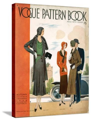 Vogue Pattern Book Cover, UK, 1930--Stretched Canvas Print