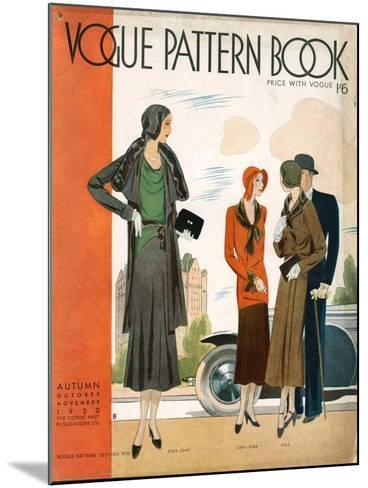 Vogue Pattern Book Cover, UK, 1930--Mounted Giclee Print