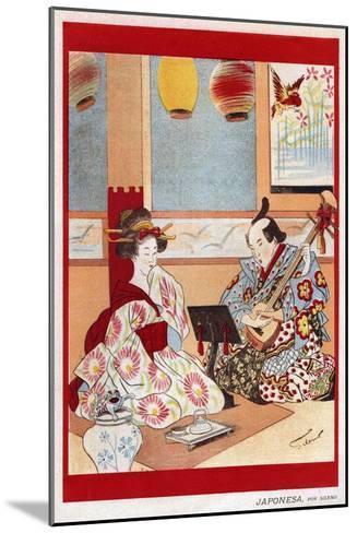 Japanese Music Scene, Magazine Plate, Japan, 1898--Mounted Giclee Print