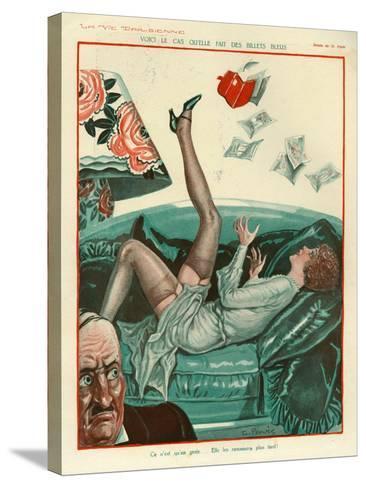 La Vie Parisienne, Magazine Plate, France, 1931--Stretched Canvas Print