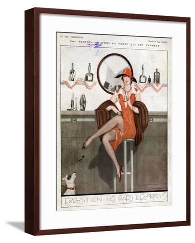 La Vie Parisienne, Magazine Plate, France, 1920--Framed Art Print