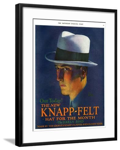 Knapp-Felt, Magazine Advertisement, USA, 1920--Framed Art Print