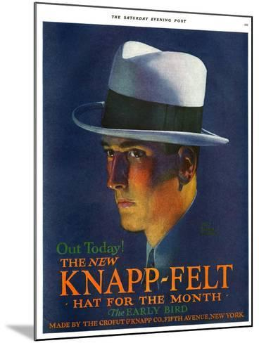 Knapp-Felt, Magazine Advertisement, USA, 1920--Mounted Giclee Print