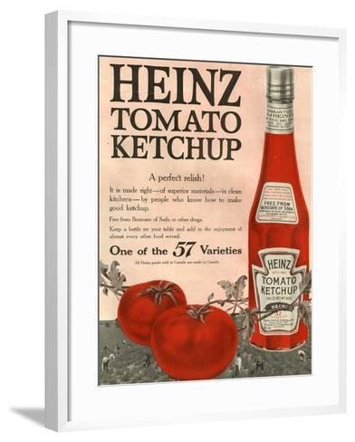 Heinz, Magazine Advertisement, USA, 1910--Framed Art Print