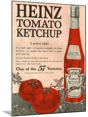 Heinz, Magazine Advertisement, USA, 1910--Mounted Giclee Print