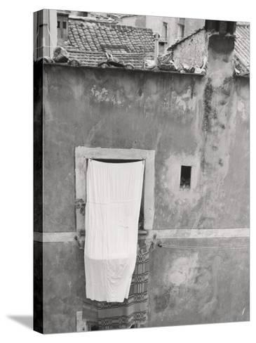 Laundry Hanging Out-Vincenzo Balocchi-Stretched Canvas Print