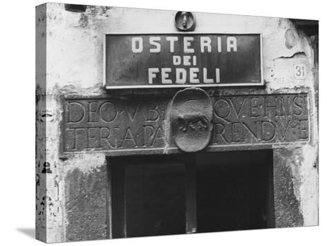 Sign for a Osteria-Vincenzo Balocchi-Stretched Canvas Print