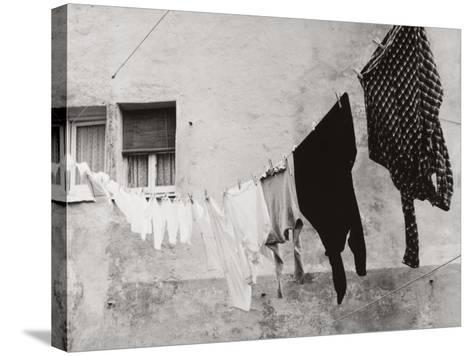 Laundry Hanging Out to Dry-Vincenzo Balocchi-Stretched Canvas Print