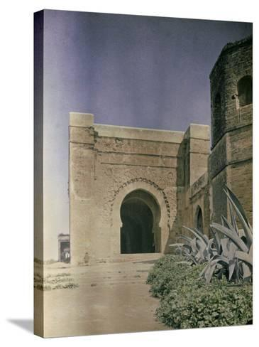The Gate at the Walls of the Kasbah of Oudaia in Rabat, Marocco-Henrie Chouanard-Stretched Canvas Print
