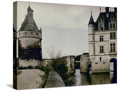 Detail of Chenonceau Castle-Henrie Chouanard-Stretched Canvas Print