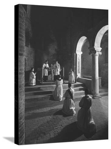 Religious Ceremony-Luciano Ferri-Stretched Canvas Print