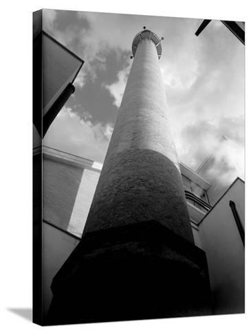 Smokestack of the Peroni Factory in Naples-A^ Villani-Stretched Canvas Print