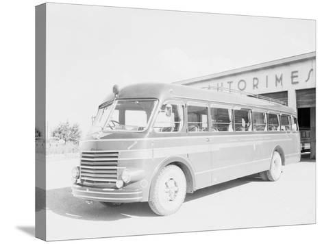 One of the Bologna City Buses-A^ Villani-Stretched Canvas Print