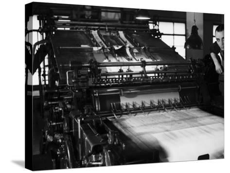 Rotary Press in the Newspaper Printing Facility of the Daily Il Resto Del Carlino of Bologna-A^ Villani-Stretched Canvas Print