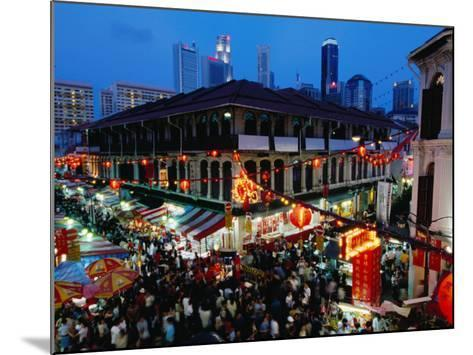 Chinatown District at Dusk, Singapore, Singapore-Michael Coyne-Mounted Photographic Print