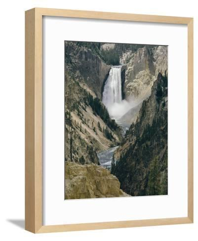 The Lower Falls of the Yellowstone River-David Boyer-Framed Art Print