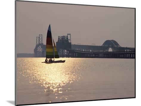 Sunset over Chesapeake Bay Bridge-Stephen St^ John-Mounted Photographic Print
