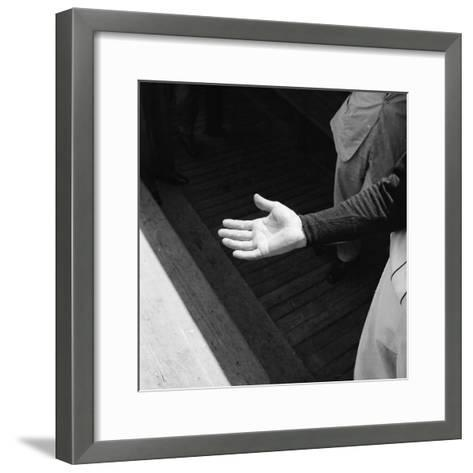 Bare Hand of Baseball Player Ted Williams-Ralph Morse-Framed Art Print