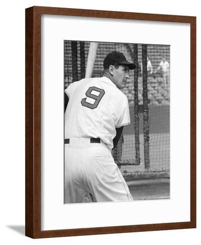 Ted Williams During Batting Practice-Ralph Morse-Framed Art Print