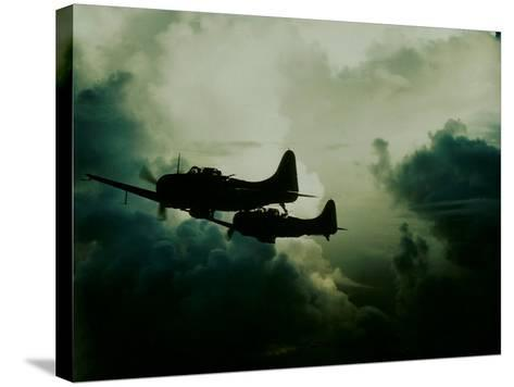 Attack on Wake Island, US Navy--Stretched Canvas Print