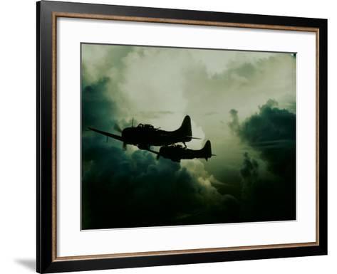 Attack on Wake Island, US Navy--Framed Art Print
