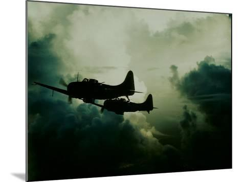 Attack on Wake Island, US Navy--Mounted Photographic Print