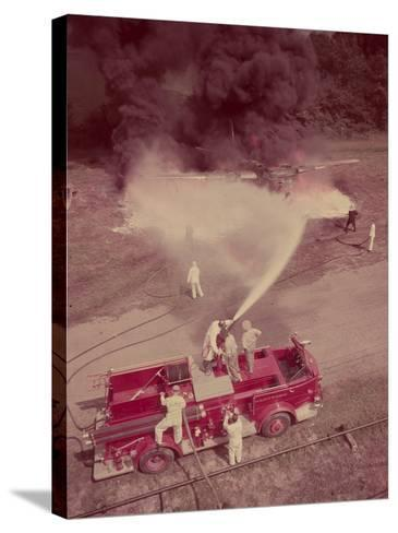 Fire Engines, Elmira, New York-Cornell Capa-Stretched Canvas Print