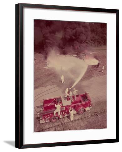 Fire Engines, Elmira, New York-Cornell Capa-Framed Art Print