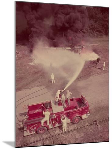 Fire Engines, Elmira, New York-Cornell Capa-Mounted Photographic Print
