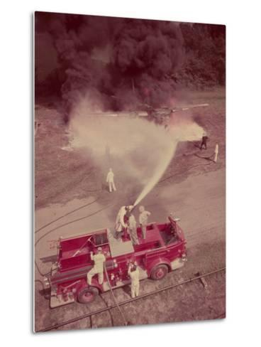 Fire Engines, Elmira, New York-Cornell Capa-Metal Print