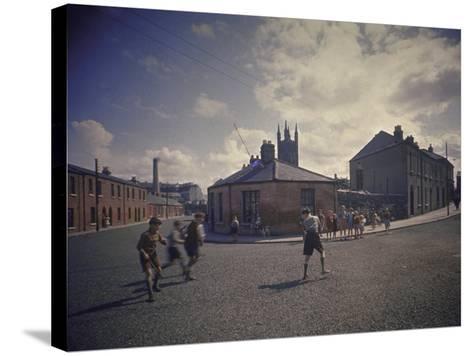 Sean O'Casey's Boyhood Home at 18 Abercorn Road-Gjon Mili-Stretched Canvas Print