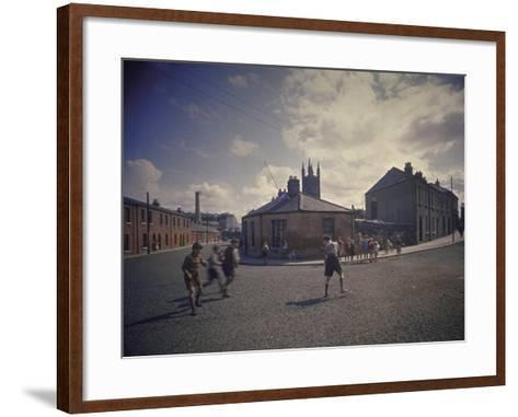 Sean O'Casey's Boyhood Home at 18 Abercorn Road-Gjon Mili-Framed Art Print