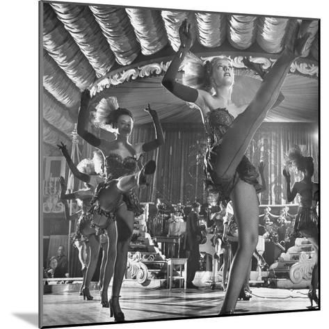 Chorus Girls Dancing During Show at Latin Quarter-George Silk-Mounted Photographic Print