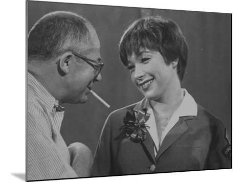 Movie Director Billy Wilder with Actress Shirley MacLaine on Set During Filming of The Apartment-Grey Villet-Mounted Premium Photographic Print