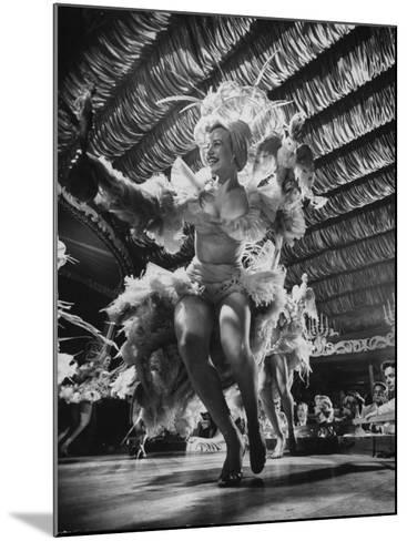 Chorus Girls Entertaining at the Latin Quarter Night Club-Yale Joel-Mounted Photographic Print