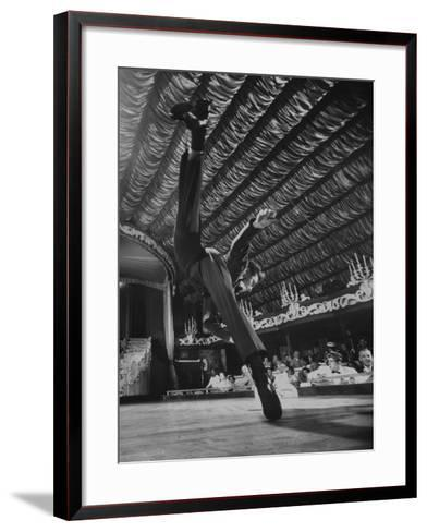 Dancers Performing at the Latin Quarter Night Club-Yale Joel-Framed Art Print