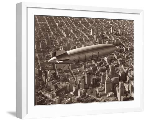 USS Macon, San Francisco, 1933-Clyde Sunderland-Framed Art Print