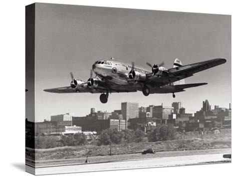 Boeing B-307 on Final Approach, 1940--Stretched Canvas Print